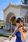 The featured guest artist this afternoon is  violinist Annelle K. Gregory.