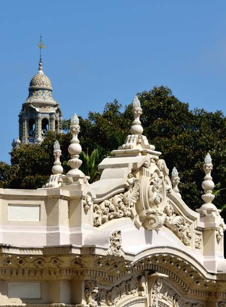 Pavilion detail and California Tower